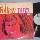 NINA SIMONE--FOLKSY NINA--NM/VG+ Stereo 1964 LP--Colpix