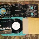 LLP/EP w/PS,Poster,Envelope-MAN ON THE MOON-Met Life-NM