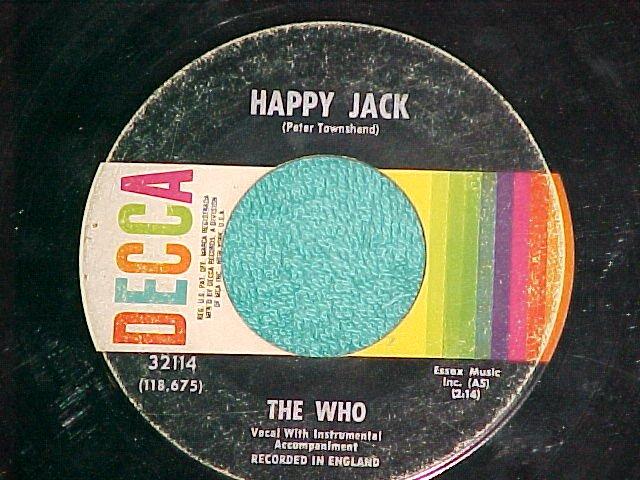 45--THE WHO--HAPPY JACK/WHISKEY MAN--1967--Decca 32114