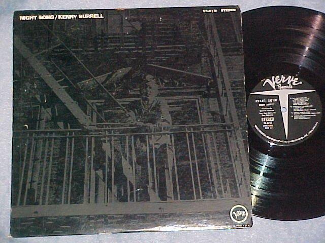 KENNY BURRELL--NIGHT SONG--VG+ 1968 LP--Verve V6-8751