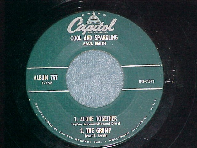 EP-PAUL SMITH-COOL AND SPARKLING-Pt 3-'56-Capitol 3-757