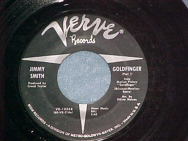 45-JIMMY SMITH--GOLDFINGER--Pts. 1 & 2--1965--Verve--NM
