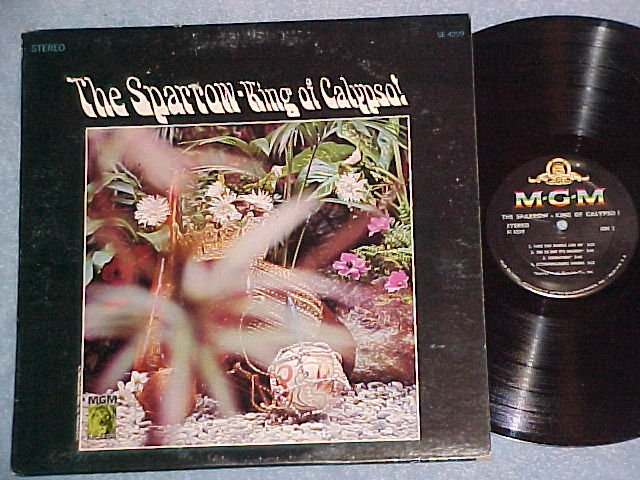 THE SPARROW--KING OF CALYPSO!-NM/VG+ Stereo 1964 MGM LP
