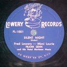 78-FRED LOWERY/FRANK SENN-SILENT NIGHT-Lowery 1001--VG+