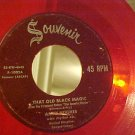 Red Vinyl 45--AMBY HUGHES--THAT OLD BLACK MAGIC--1953