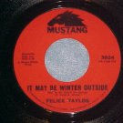 45-FELICE TAYLOR--IT MAY BE WINTER OUTSIDE--Mustang--NM