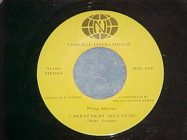 45-PHILIP MASTER--SILENT NIGHT--Nashville International