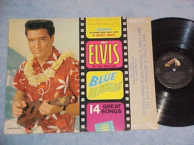 ELVIS PRESLEY--BLUE HAWAII--VG+ 1961 Soundtrack LP