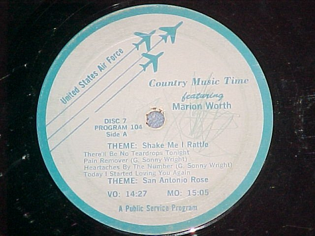 US Air Force Country Music Time-MARION WORTH/PROMOS-80s