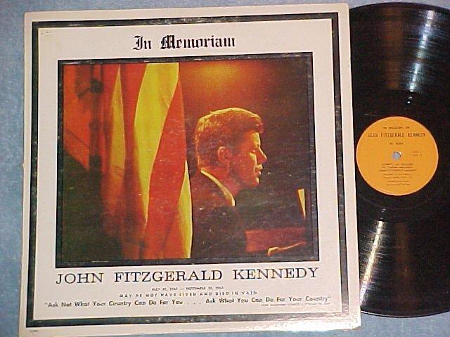 Rare John F Kennedy LP-IN MEMORIAM--WPEN/Strand DL-5001