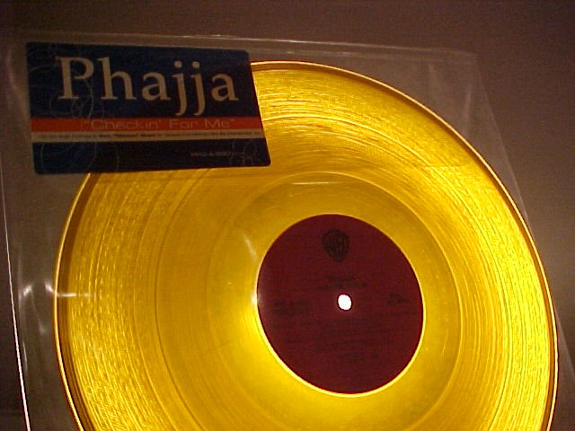 "PHAJJA-CHECKIN' FOR ME--12"" 1999 EP--Yellow Vinyl-Promo"