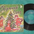 45 w/PS--THE CHIPMUNKS-THE CHRISTMAS SONG--1959-Liberty