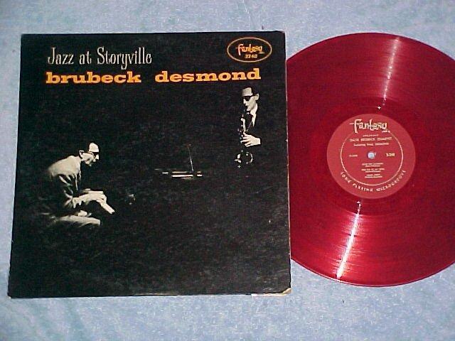 DAVE BRUBECK QUARTET--JAZZ AT STORYVILLE--Red Vinyl LP