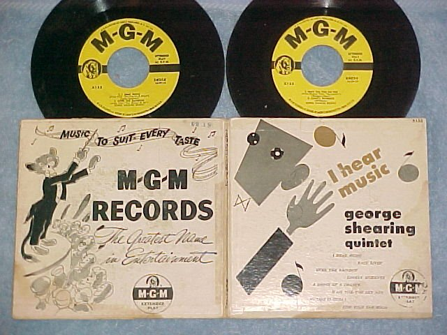 Dbl EP w/PS-GEORGE SHEARING-I HEAR MUSIC-1953--MGM X155