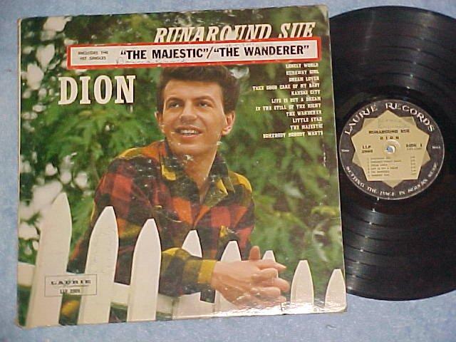 DION-RUNAROUND SUE-VG 1961 LP w/sticker-Laurie LLP-2009