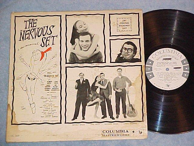 THE NERVOUS SET--1959 Broadway Soundtrack LP--WL Promo