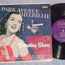"DOROTHY SHAY--THE PARK AVENUE HILLBILLIE--10"" 1953 LP"