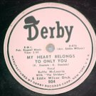 78-BETTE McLAURIN-MY HEART BELONGS TO ONLY YOU-Derby804