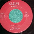 45--DICK SPASS--DETROIT CITY--Casino Records 33-22--NM