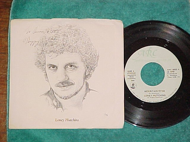 45/Autograph PS-LONEY HUTCHINS-MOUNTAIN EYES-ARC 0001/2