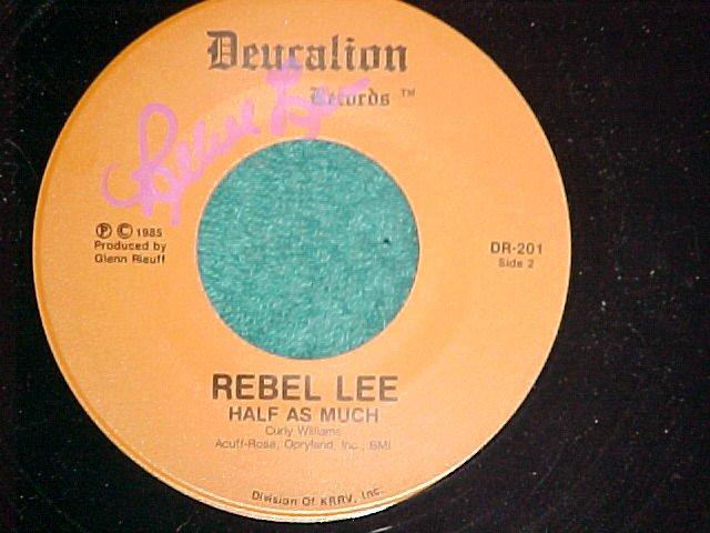 45-REBEL LEE-Deucalion Records DR-201-1985-Autograph-NM