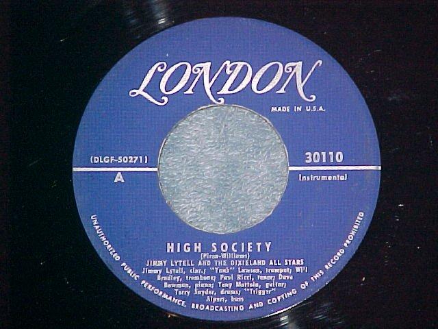 45-JIMMY LYTELL--HIGH SOCIETY--1956--London 30110--VG++