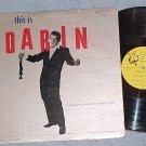 BOBBY DARIN--THIS IS DARIN--VG+ Mono 1960 LP-Harp label