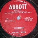 78--MITCHELL TOROK--CARIBBEAN--1953--Abbott 140--VG++