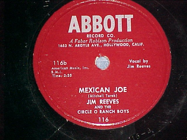 78--JIM REEVES--MEXICAN JOE--1953--Abbott 116--VG++