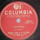 78-FRANKIE LAINE AND JO STAFFORD-HAMBONE-Columbia 39672