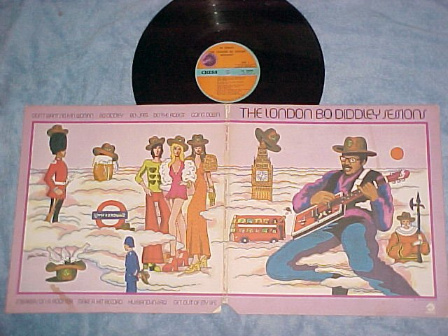 THE LONDON BO DIDDLEY SESSIONS--VG++/VG+ 1973 Chess LP