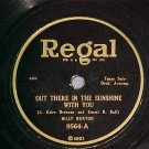 78--BILLY BURTON--OUT THERE IN THE SUNSHINE--Regal 9564