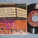EP w/PS--ARTIE SHAW--SWING TIME--1959--RCA EPA-5110--NM
