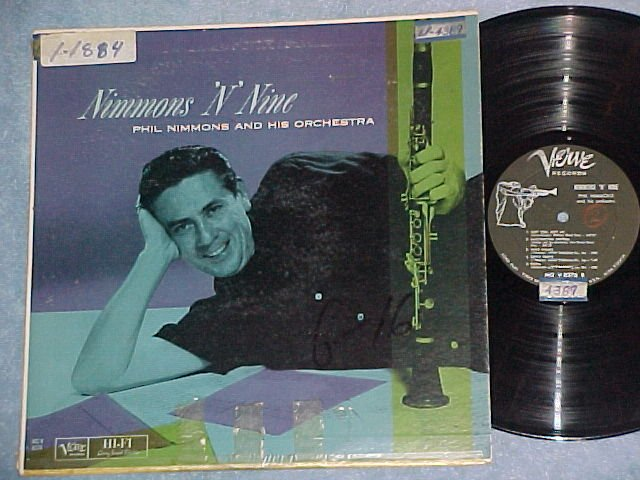 PHIL NIMMONS--NIMMONS 'N' NINE--1960 LP--Verve MGV-8376
