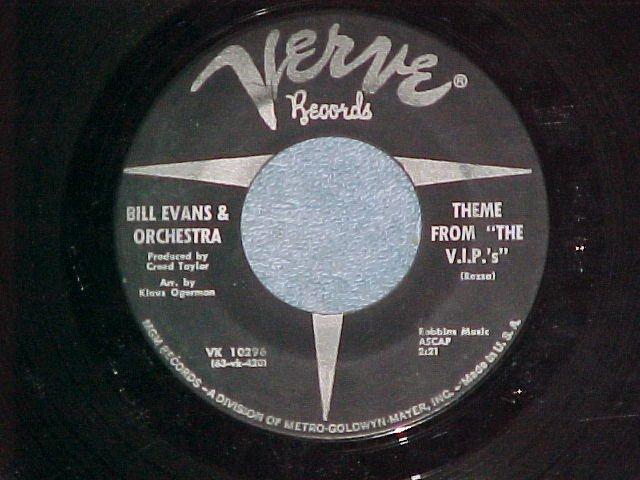 "45-BILL EVANS-THEME FROM ""THE V.I.P.'s""-1963-Verve--VG+"