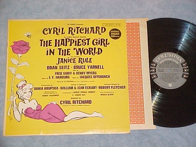 THE HAPPIEST GIRL IN THE WORLD--VG++/VG+ 1961 OC Sdk LP