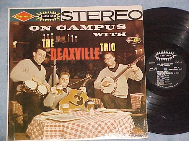ON CAMPUS WITH THE DEAXVILLE TRIO--Stereo 1961 LP