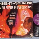 RALPH BURNS IN PERCUSSION-VG+/VG++ Stereo'61 Warwick LP