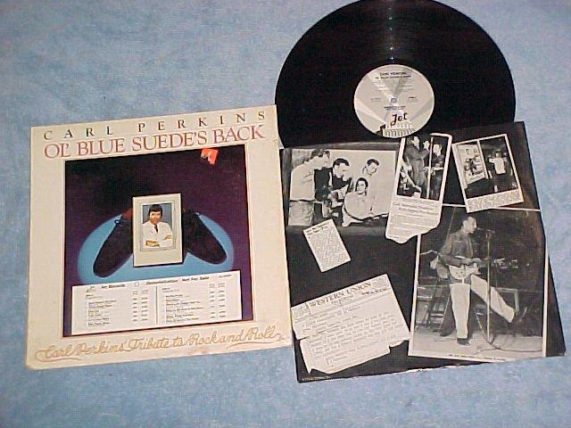 CARL PERKINS-OL' BLUE SUEDE'S BACK-1978 Promo LP on Jet