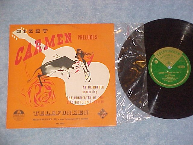 "BIZET:CARMEN PRELUDES-Rother:Stadische-10"" UK LP-NM/VG+"