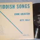 JENNIE GOLDSTEIN AND BETTY REILLY-YIDDISH SONGS-De Luxe
