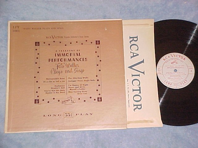 FATS WALLER PLAYS AND SINGS-VG+ '54 LP--RCA LPT-1001 #1
