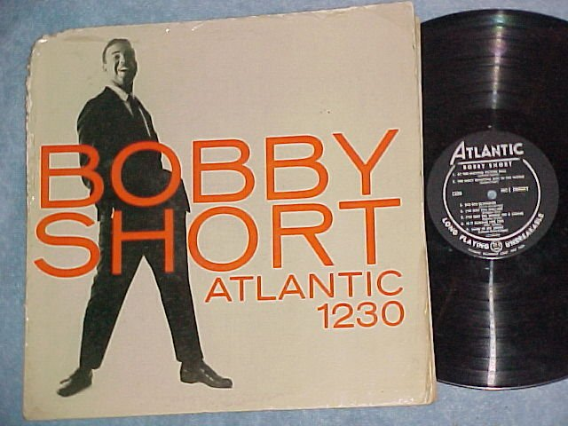 BOBBY SHORT-Self Titled 1956 LP-Atlantic 1230-black lbl