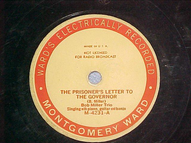 78-BOB MILLER--PRISONER'S LETTER TO GOVERNOR-Mont. Ward