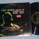 "BURL IVES-FOLK SONGS-DRAMATIC AND HUMOROUS--10"" 1953 LP"