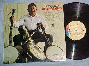 FREDDY MORGAN--BUNCH-A-BANJOS--NM/VG+ 1966 Promo LP