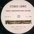 STEREO-SONIC DEMONSTRATION RECORD-Lynbrook, NY ~No Jkt~