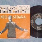 45 w/PS-NEIL SEDAKA-SWEET LITTLE YOU--1961-RCA--VG/VG++