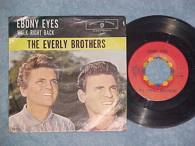 45 w/PS--THE EVERLY BROTHERS--EBONY EYES--1960--VG++