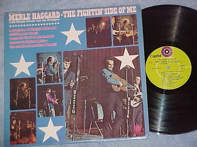 MERLE HAGGARD-FIGHTIN SIDE OF ME-Capitol Record Club LP